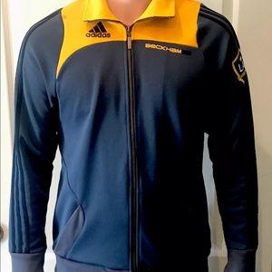Adidas LA Galaxy MLS David Beckham Soccer Jacket